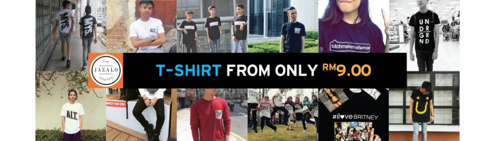T-shirt from only RM9.00