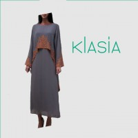 KLasia Overlay Top Maxi Dress with Embroidery