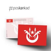 poskankad Malaysian State Flag Postcard - MOQ 30