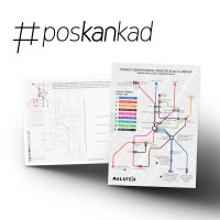 poskankad MALAYSIA - Greater KL Integrated Transit Postcard
