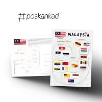 poskankad Malaysian Flags Postcard