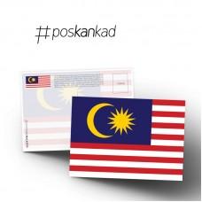 poskankad Jalur Gemilang Postcard
