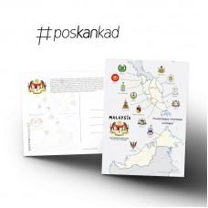 poskankad Malaysian Coat of Arms Postcard